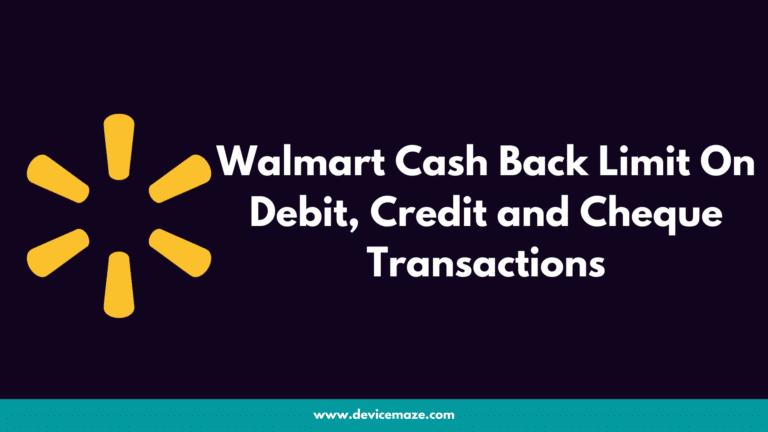 walmart cash back limit