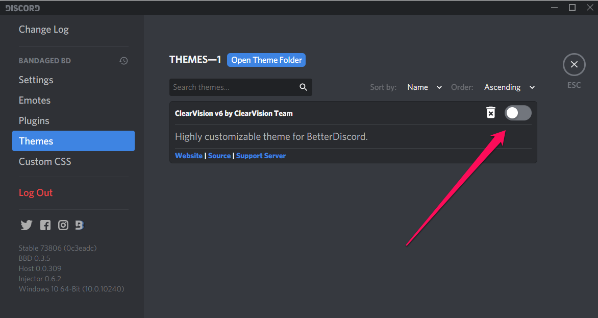 how to get custom discord themes