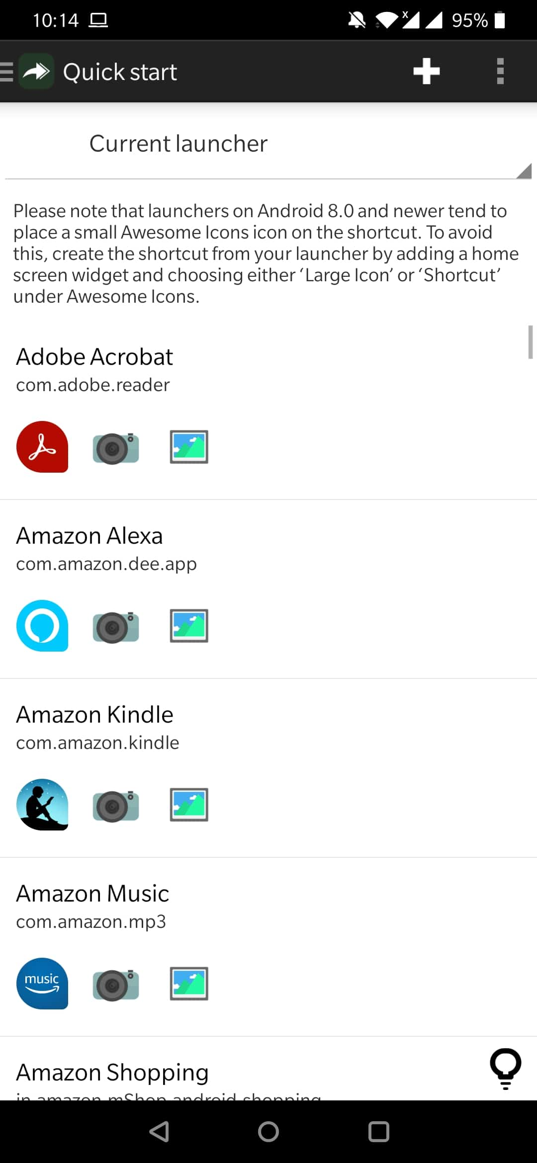 how to change icon on android