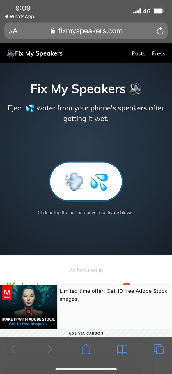 water in iphone speakers