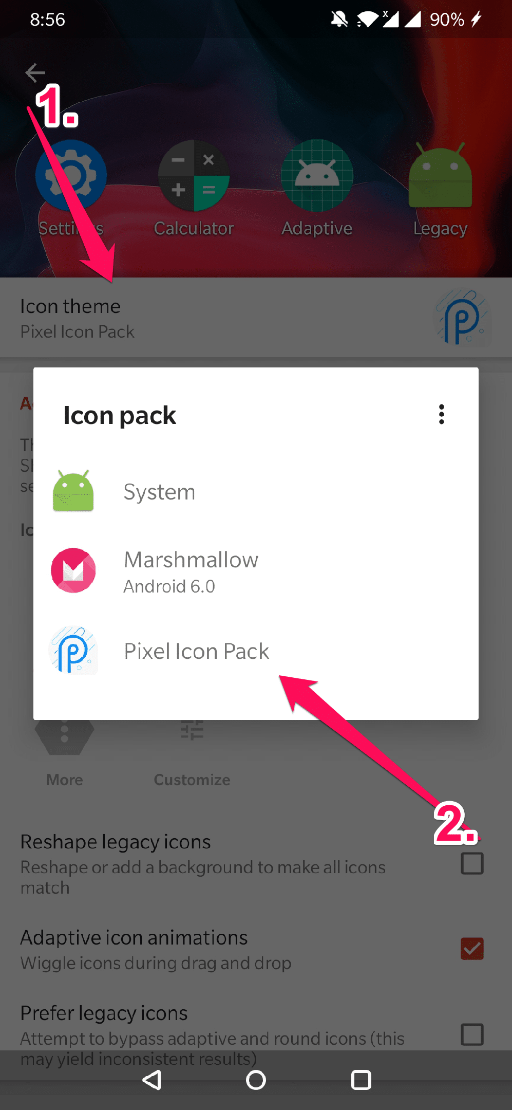changing android icons
