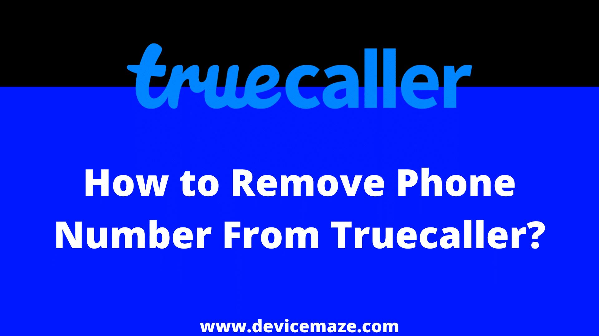 truecaller unlist mobile number