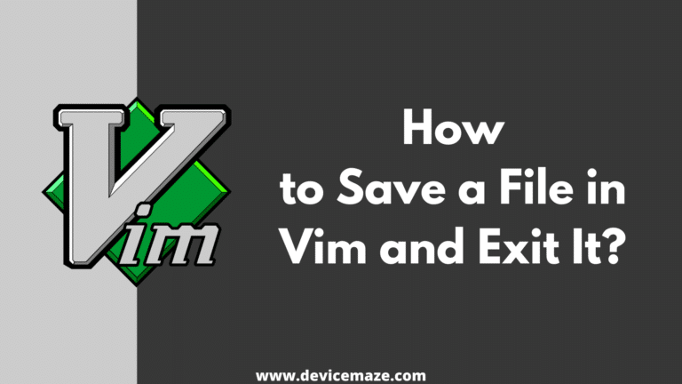 vi save and exit